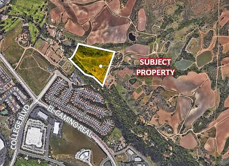 Carlsbad lot that sold for $2.6 million Photo courtesy of Lee & Associates
