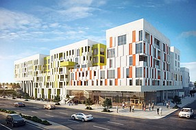 The BLVD is a 165-apartment project under construction in North Park by H.G. Fenton. Rendering courtesy of H.G. Fenton.