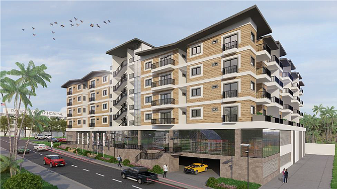 Paradise Senior Apartments Rendering courtesy of Parkview Financial