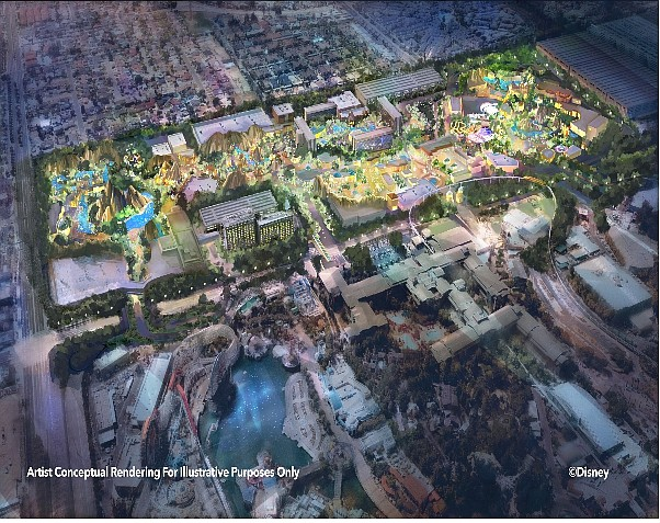 Westside rendering: Possible immersive theme park that could include hotel, retail, dining and entertainment