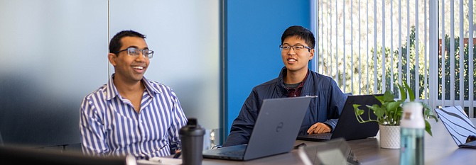 (From left to right) CEO Rupak Doshi and COO Norman Huang.
