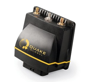 The Q-Pro, one of Quake Global's products, delivers one- or two-way data communication through satellites and terrestrial GSM networks.