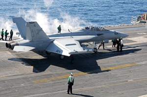 Kratos Defense's new acquisition, Herley Industries, provides electronics for the EA-18G Growler signal jamming aircraft.