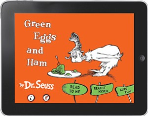 Sales of Oceanhouse Media's digital apps took off with the publishing of titles in the Dr. Seuss series such as 'Green Eggs and Ham.'