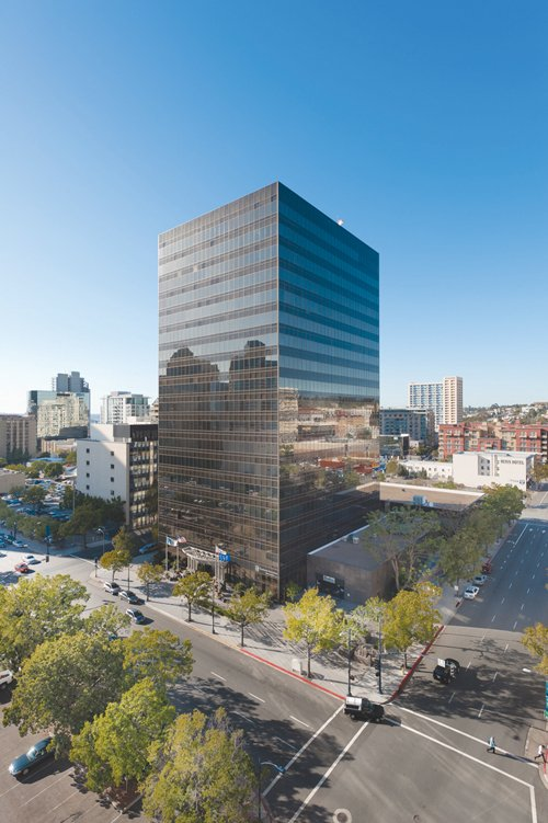 Forester Properties Inc. has purchased the 110 Plaza high-rise in downtown San Diego for $80 million.