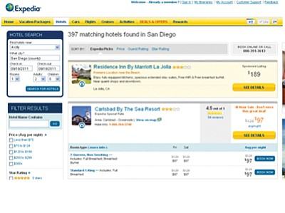 A visitor's first encounter with a local hotel is often through a website such as Expedia.