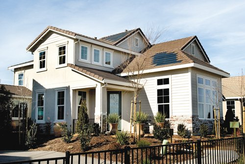 OneRoof Energy is partnering with roofers and builders to offer leased solar systems to homeowners. The systems' solar panels (right) provide substantial savings on energy bills for homeowners.