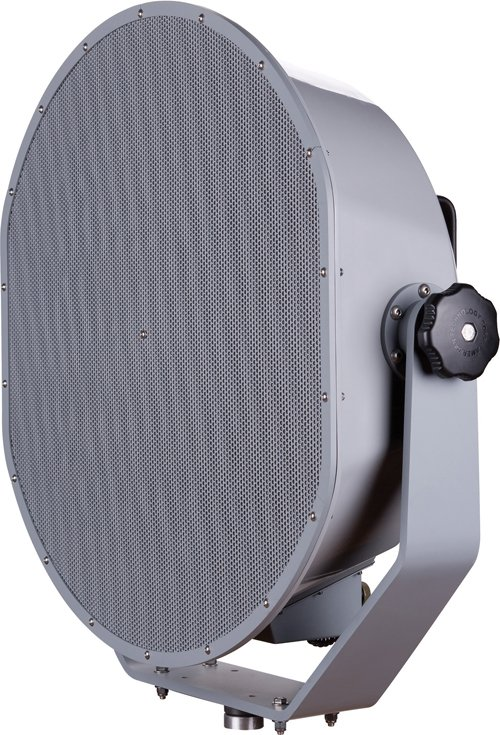 The U.S. Navy is one customer for LRAD's model 1000X, which measures more than 3 feet high, weighs 75 pounds and can project voice or warning tones more than 3 kilometers. LRAD reported increased revenue and net income during fiscal 2011.