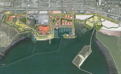 The Port of San Diego's latest general plan for the Chula Vista waterfront features a large hotel and conference center with 1,500 to 2,000 rooms. On the outskirts, there would be a combination of smaller hotels and up to 1,500 residential units.