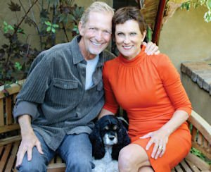 Peter and Kathy Halper: Laguna Beach Community Foundation donors pose with pooch Sophie