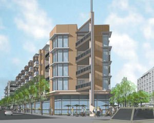 Luxury: Five-story apartment complex will be ready for residents in 2014.