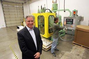 Andre de Fusco at BioMolded's facility in Westlake Village.