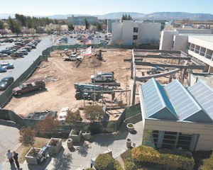 Improve: Construction of a new canopy at Antelope Valley Hospital.