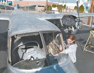 Repair: Allison Retig, an aviation student at the North Valley Occupation Center.