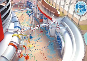 Fun: The Aqua Lab on the Disney Fantasy is an interactive play area for families.