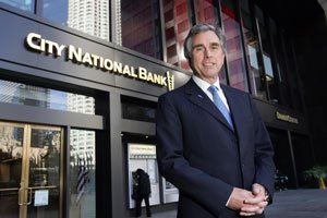 CEO Russell Goldsmith at City National Bank's downtown L.A. office.