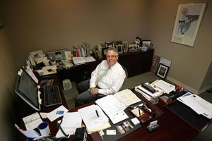 Hal Dash, chairman and chief executive of Cerrell Associates, at the PR firm's headquarters in Los Angeles.
