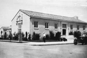 Historic: A photo of the old Van Nuys Library taken in 1927.