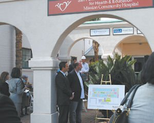 Medical: Mission Community Hospital officials at groundbreaking of new clinic.