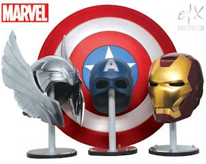 "Super: Replica props made from the original molds for ""The Avengers"" film."