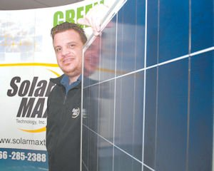 Sun: Store manager James Ponce at the SolarMax store in Thousand Oaks.