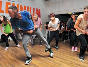 Footwork: A Jazz Funk class at the Millennium Dance Complex in North Hollywood. The studio has attracted the likes of Jennifer Lopez and Britney Spears.