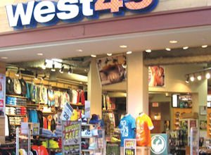 Canadian retail chain: one of several operated by clothing maker