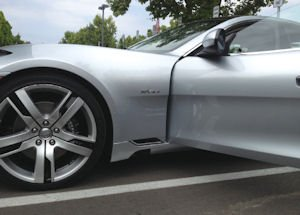 Luxury-electric sedan: goes for roughly $100,000
