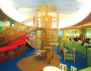 Fun: Part of the play area at Giggles N' Hugs at Westfield Century City.