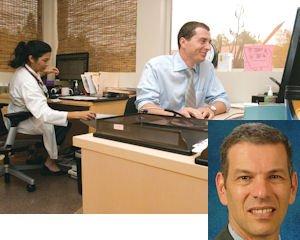 Office: Dr. Giselle Namazie, Dr. Yaroslav Gofnung at UCLA Health System Westlake Village.  Inset:  Feinberg