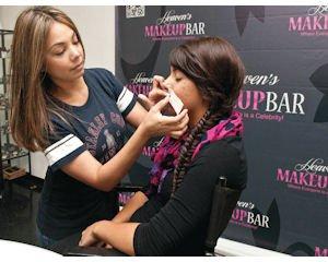 Service: Esthetician Claudia McNeff waxes Tiffani Perez at Heaven's Makeup Bar.