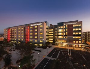 Centerpiece: Hospital (at left) is part of $650 million campus that also features two adjacent new office buildings