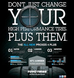 Print ad: for Toyo Tire's Proxes 4 Plus