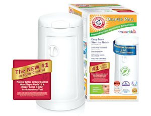 Promote: Munchkin's latest advertisement of its ARM & HAMMER Diaper Pail.