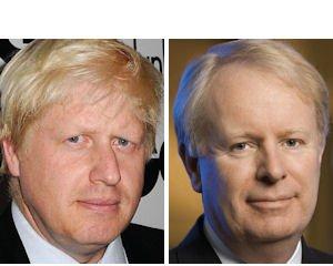 Separated at birth?: London Mayor Boris Johnson, Allergan CEO David Pyott. Give Pyott edge on grooming