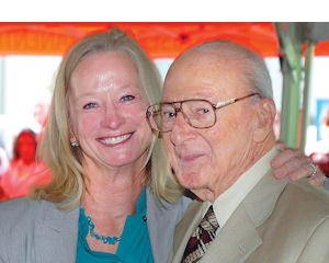Docs: Dr. Irving Klitsner (right) with Dr. Mary Wilson of Panorama City Medical Center.