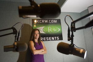 Jennifer Ferro, general manager of KCRW-FM (89.9), at the National Public Radio station's studios at Santa Monica City College.