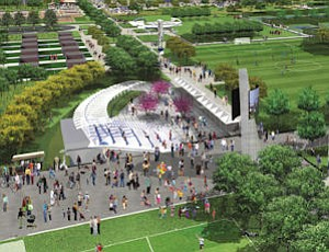 Sports park: rendering of $124 million facility FivePoint would finance, develop at Great Park under proposal