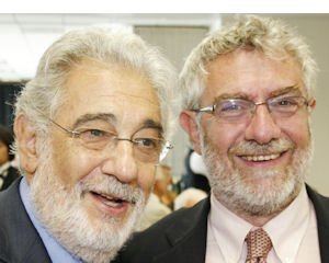 Separated at birth?: Placido Domingo and Chapman Chancellor Daniele Struppa