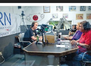 Media: CRN staff hosts a talk show from Sunland studio.