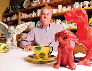 Art: Mike Mooslin, president of Color Me Mine Enterprises, says the company strives to provide entertainment for family and friends in a quiet gathering place.