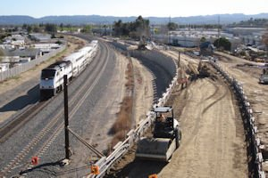 Bird's-eye view: of a mechanically stabilized earth wall in Chatsworth, part of a Metro project that Stantec's Irvine office is helping to manage