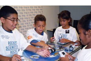 Build: Boys & Girls Club members participate in the Robo Tech program.