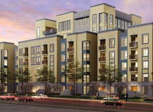 Apex rendering: Lyon Communities' 366-apartment project in Milpitas
