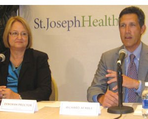 Proctor, Afable: both emphasized new network not a takeover by St. Joseph