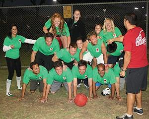 Kickball team: among range of fitness activities for firm's employees