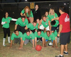 Kickball team: among range of fitness activities for firm's employees