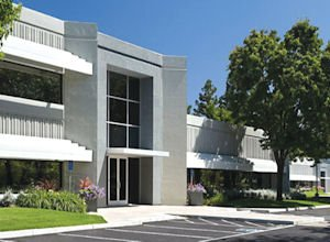 Trimble Technology Park: rendering shows planned renovations for four-building property