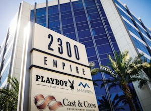 Close Quarters: Manwin and Playboy Plus share space at Burbank's Empire Center.