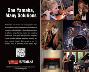 Yamaha ad: print promo touts musicians, others using company instruments